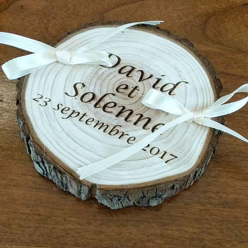 Portealliances Le Rondin De Bois - Porte alliance mariage