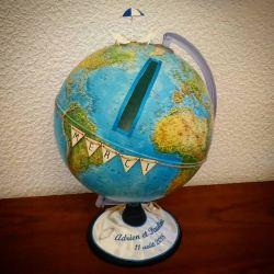 cagnotte pour mariage : le globe terrestre