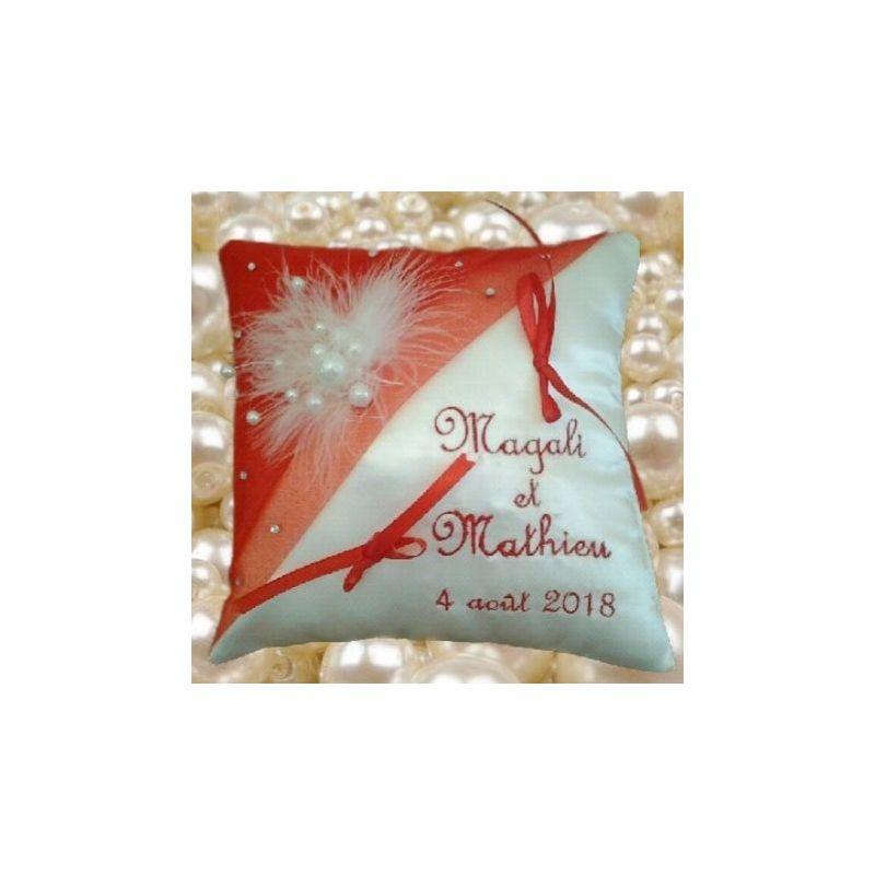 porte alliance avec perles et strass ton rouge (ou autre)