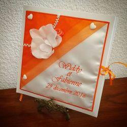 livre d or : les orchidées ton orange